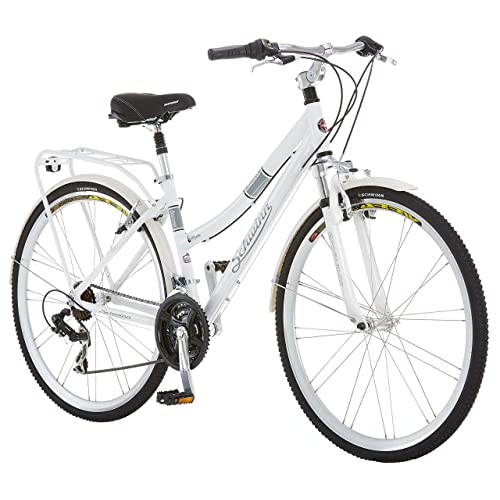 07cd7ec3423 Schwinn Discover 700c Hybrid Bicycle with Full Fenders and Rear Cargo Rack,  Men's and Women's