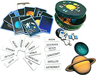 MFM Toys Solar System Magnets With Junior Edition Flashcards (3Mm Thick Magnetic Pieces)