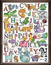 Design Works - Nursery Decor - ABC Animal Sampler - Counted Cross Stitch Kit 2852, 12 by 16 inches with Gift Card