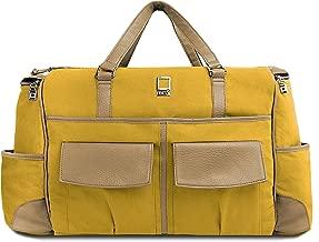 Lencca Alpaque Duffel – MUSTARD YELLOW & COOL CAMEL Luggage Laptop Bag fits Apple MacBook Air 13' & 11' inch