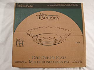 The Pampered Chef New Traditions Deep Dish Pie Plate- Blue