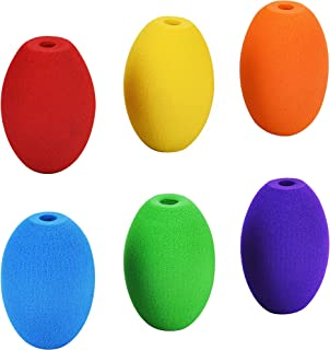 Special Supplies Egg Pencil Grips for Kids and Adults (6-Pack) Colorful, Cushioned Holders for Handwriting, Drawing, Coloring - Ergonomic Right or Left-Handed Use - Reusable