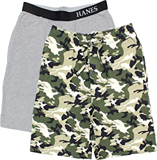 Hanes Men's 2-Pack Knit Short (X-Large, Camo/Grey)