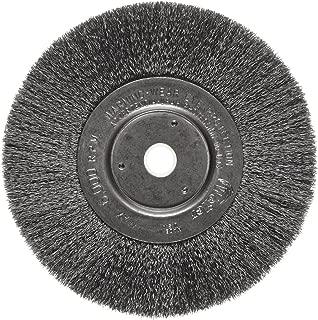 Weiler Trulock Narrow Face Wire Wheel Brush, Round Hole, Steel, Crimped Wire, 6