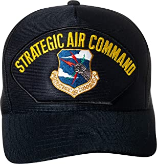 United States Air Force Strategic Air Command Emblem Patch Hat Navy Blue Baseball Cap