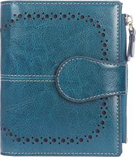 Lavemi Big Fat Rfid Blocking Leather Checkbook Credit Card Holder Wallets Clutch for Women with Wristlet Strap