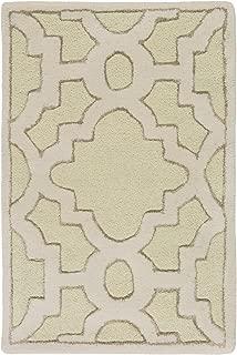 Surya Candice Olson Modern Classics CAN-2038 Hand Tufted 100-Percent New Zealand Wool Geometric Accent Rug, 2-Feet by 3-Feet