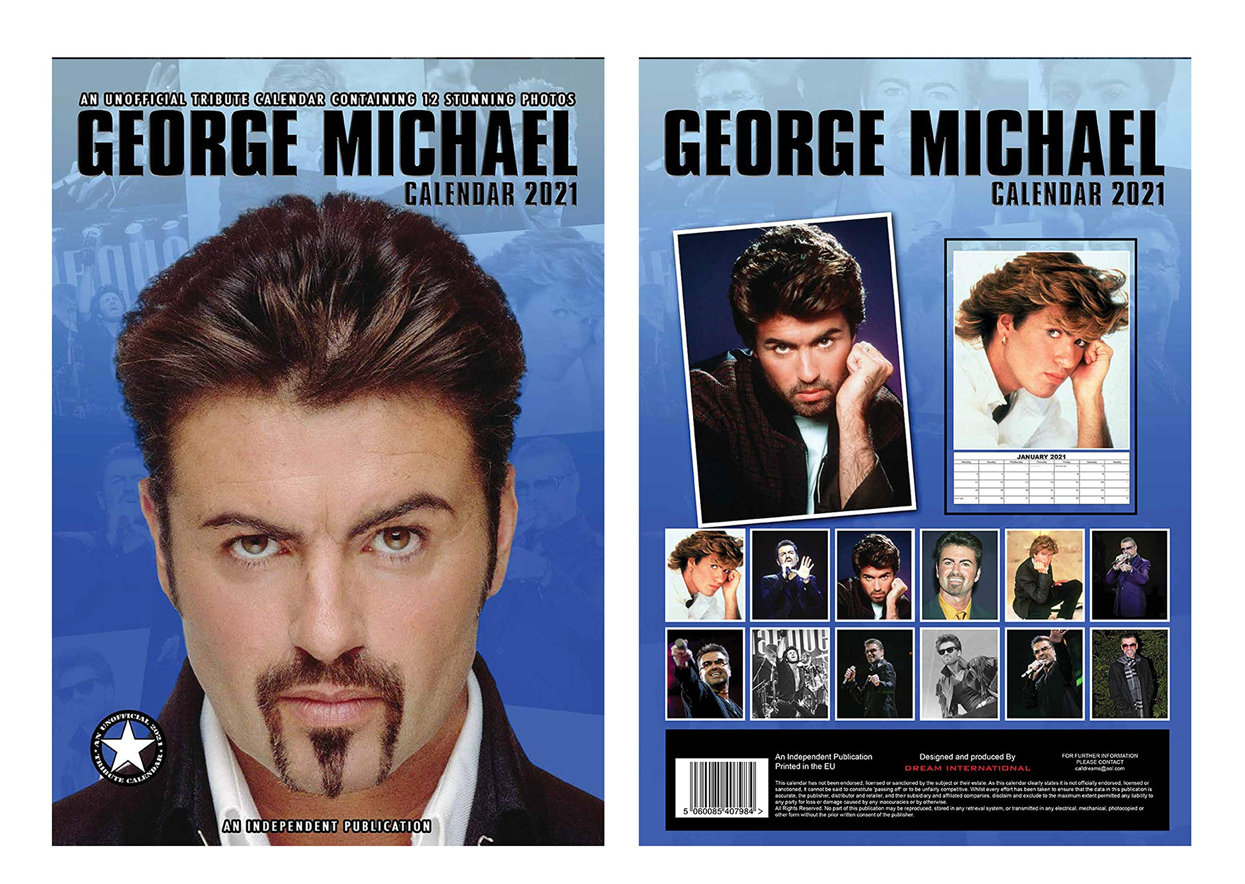 George Michael Calendario 2021 A3 con George Michael Llavero