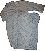 Kissy Kissy Boy's Take Me Home Outfit in The Dizzy Dots Pattern 0-3 Month (12444) Blue