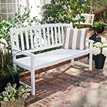 Coral Coast Pleasant Bay 5 ft. Curved Slat-Back Outdoor Wood Bench