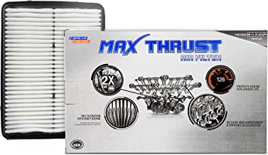 Spearhead MAX THRUST Performance Engine Air Filter For Low & High Mileage Vehicles - Increases Power & Improves Acceleration (MT-881)