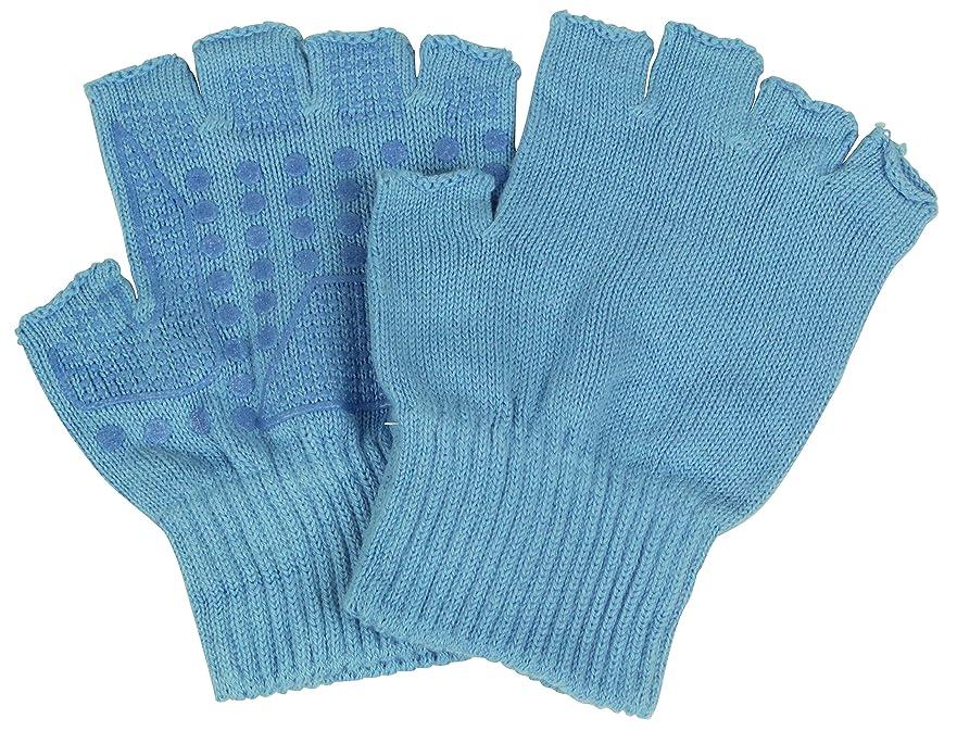 見かけ上支配する湿ったカチボシ レジャー?アウトドア用手袋 純綿 薄手 パフォーマーカラー #141 青