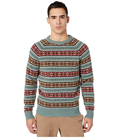 J.Crew Fair Isle Lambswool Crewneck Sweater (Fair Isle Faded Bluegrass) Men
