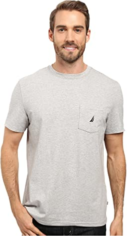 Short Sleeve Solid Anchor Pocket Tee