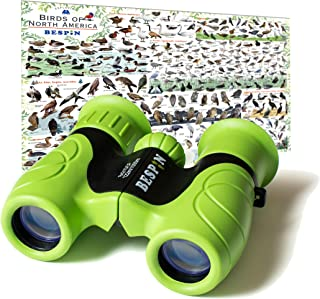 Best BESPIN Binoculars for Kids (Adopted by Nature Schools) 8x21 Bird Watching, High-Resolution Real Optics for Wildlife Watching with Reversible Bird Map - GR - Review