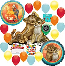 The Lion King Party Supplies Birthday Balloon Decoration Supply Bundle with Happy Birthday Card and 8 Treat Bags