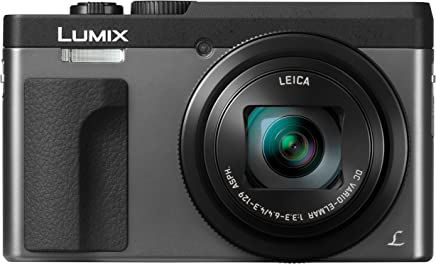 """Panasonic DC-ZS70S Lumix 20.3 Megapixel, 4K Digital Camera, Touch Enabled 3"""" 180 Degree Flip-Front Display, 30x Leica DC Vario-Elmar Lens, Wi-Fi with 3"""" LCD, Silver"""