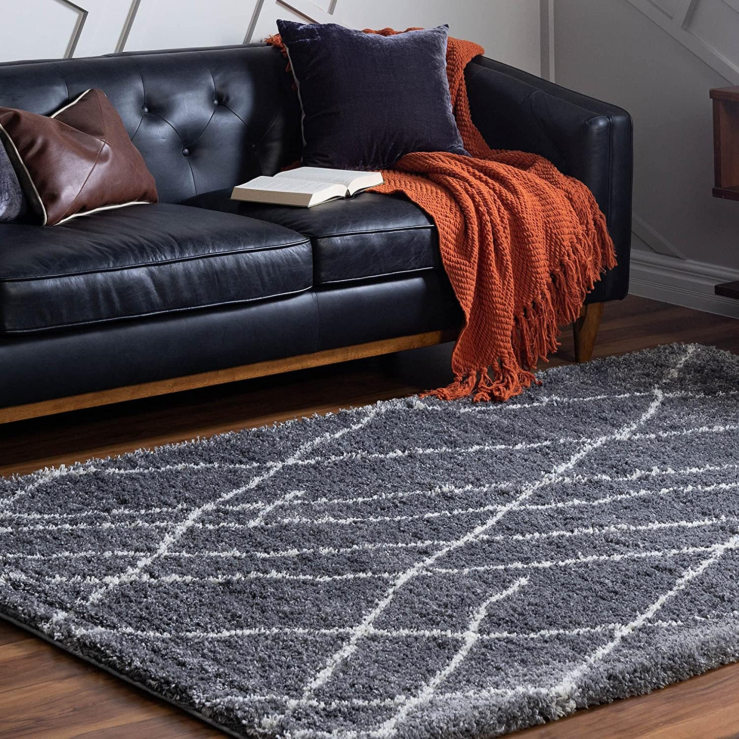Rugs.com Soft New mail order Touch Shag Collection Area S Pebble 6x9 – High quality Rug Gray