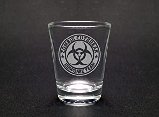 Zombie Outbreak Shot Glass