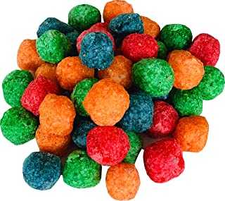 Awsum Snacks Dragons Breath Nitrogen Dessert Sweet Puff Cereal Snack Puffs Balls Gluten Free Four Colors Four Natural Flavors, Always Fresh 10 bags (1 bag -300 grams, 10.58 oz)