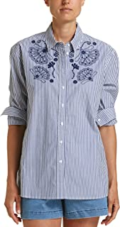 Women's Jade Embroidered Shirt