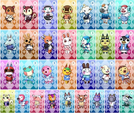 Amazon Com Acnh Animal Crossing 30 Pcs Rare Character Villager Cards Nfc Amiibo Tag Game Cards For Switch Switch Lite Wii U Computers Accessories