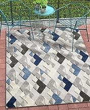 Well Woven Como Blue Indoor/Outdoor Diamonds Area Rug 5x7 (5'3
