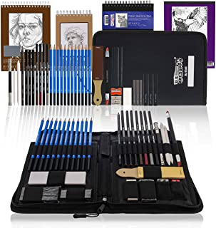 U.S. Art Supply 44-Piece Drawing & Sketching Art Set with 4 Sketch Pads (242 Paper Sheets) - Professional Artist Kit, Grap...