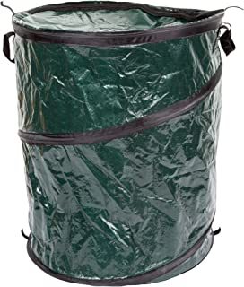 Collapsible Trash Can- Pop Up 33 Gallon Trashcan for Garbage With Zippered Lid By Wakeman Outdoors -Ideal for Camping Recy...