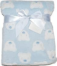 Manta Polar Bebé Recién Nacido Suave Niña Niño Blanco Rosa Azul Cochecito Cuna Moisés Envolvente