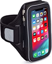 Sporteer Velocity V8 Running Armband - iPhone 11 Pro Max, Xs Max, iPhone 11, XR, 8 Plus, 7 Plus, Galaxy S10 Plus, S10, Note 10, 9, 8, S9 Plus, S8 Plus, Pixel 3 XL, 2 XL, LG, Moto - FITS Cases (S/M)