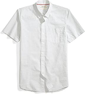 Goodthreads Men's Slim-Fit Short-Sleeve Horizontal Stripe Shirt