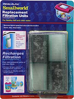 Penn Plax 12-Pack Small World Filter Units and Replacement Cartridges for Small Tanks