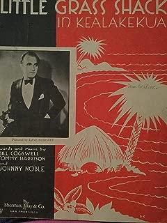 My Little Grass Shack in Kealakekua - Vintage Sheet Music