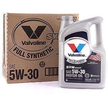 Valvoline SynPower 5W-30 Full Synthetic Motor Oil - 5qt (Case of 3) (787007-3PK)