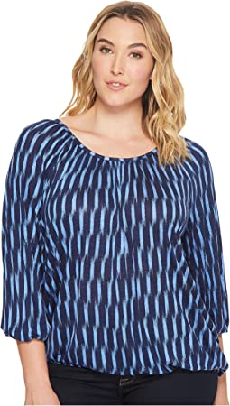 MICHAEL Michael Kors - Plus Size Sari Peasant Top