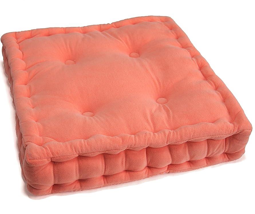 電圧パスクリーム大きい 厚め コシのある 座布団 クッション  43×8cm ピンク