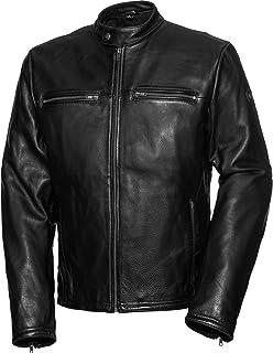 Spirit Motors Motorradjacke mit Protektoren Motorrad Jacke Retro Style Lederjacke 5.0, Herren, Chopper/Cruiser, Sommer, Leder/Textil
