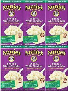 Annie's Homegrown Macaroni & Cheese - Shells & White Cheddar - 6 oz - 6 pk