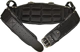 Gatorback Pro-Comfort Back Support Belt Black w/White Stitching. 1250 Duratek Nylon Belt, Molded Air Channel Padding, Carrying Handles, Suspender Loops. (Medium 31-34 Inch Waist)