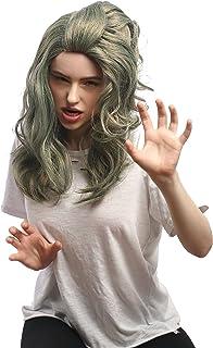 peluca lisa elegante luce el pelo medio largo diaria Prettyland C1146 en el gris Granny palo nombrado