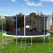 Simplylin 12 FT Kids Trampoline with Enclosure Net Jumping Mat and Spring Cover Padding,Education Toy Baby Toys /& Games Children