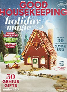 Good Housekeeping Magazine - December 2018 - Holiday Magic - Festive Dinner Ideas - Party Makeovers - Beautiful Crafts - The Sweetest News For Dry Skin - L'Oréal Paris Cover Special