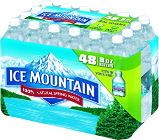 Ice Mountain 100% Natural Spring Water, 8-ounce mini plastic bottles, 48 Count