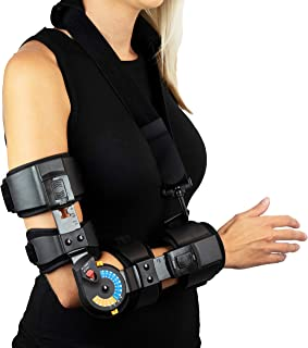 American Heritage Industries Elbow ROM Brace- Hinged Elbow Brace for Post Op Elbow Fracture Rehabilitation, Right or Left (Right)