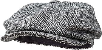 Borges & Scott Lomond Newsboy Cap - 100% Handwoven Wool - Harris Tweed - Water Resistant