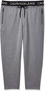 Calvin Klein Jeans Men's Exposed Waistband Pant, Grey, Large
