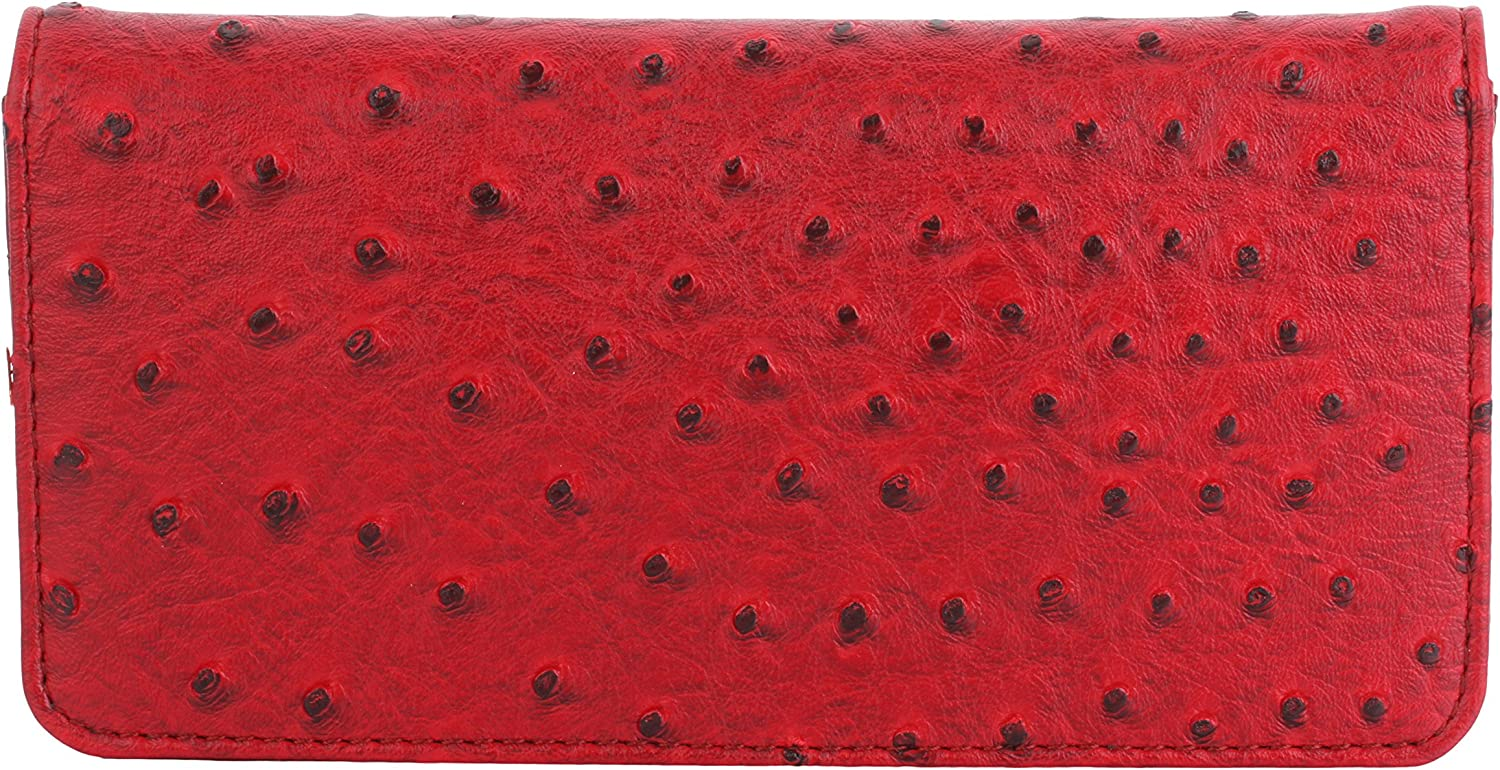 Pavo Red Slim Clutch Wallets for Women