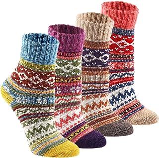 Wool Cozy Crazy Novelty Socks - KEAZA WZ02 Thick Cotton...