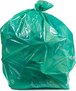 """Plasticplace 55-60 Gallon Trash Bags │ 1.2 Mil │ Green Heavy Duty Garbage Can Liners │ 38"""" x 58"""" (100Count)"""